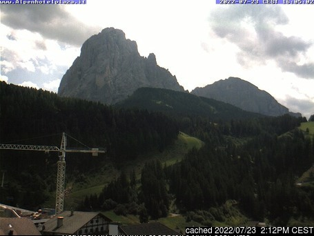 Santa Cristina webcam at lunchtime today