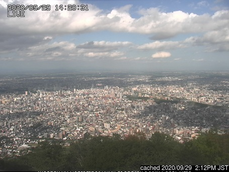 Mt Moiwa ski area webcam at 2pm yesterday