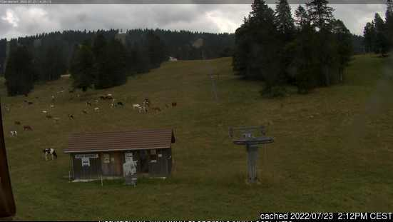 Savagnières - Bugnenets webcam at 2pm yesterday