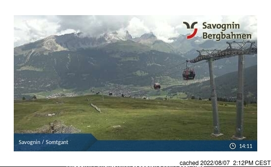 Savognin webcam at 2pm yesterday