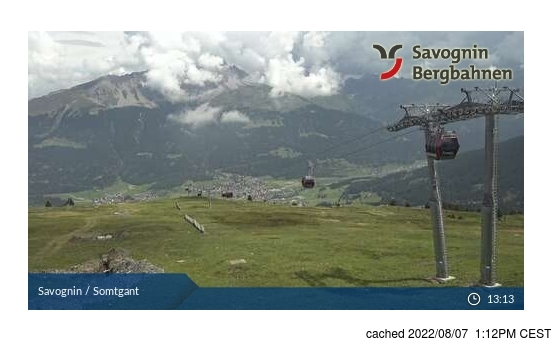 Live webcam per Savognin se disponibile