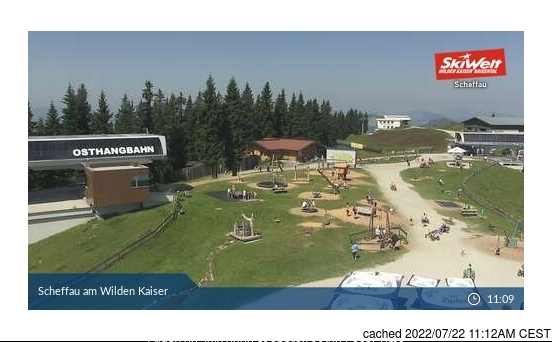 Scheffau webbkamera vid lunchtid idag