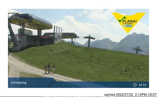Schladming webcam at 2pm yesterday