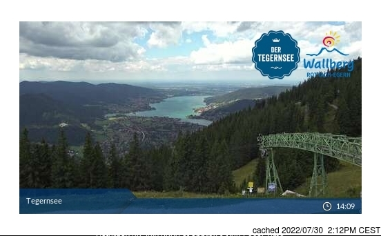 Schliersee webcam at 2pm yesterday