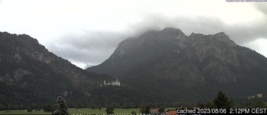 Schwangau webbkamera vid kl 14.00 igår