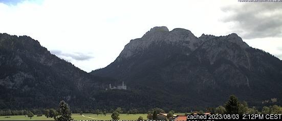 Schwangau Webcam gestern um 14.00Uhr