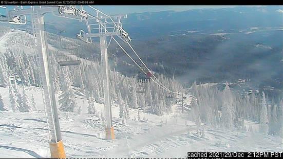 dün saat 14:00'te Schweitzer Mountain'deki webcam