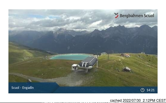 Scuol/Engadin webcam at 2pm yesterday