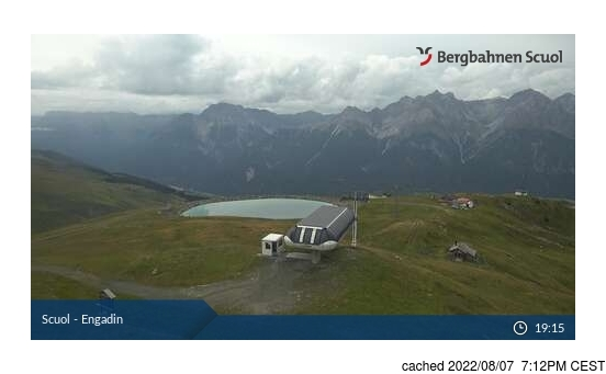 Live Snow webcam for Scuol/Engadin