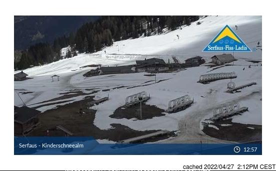 Webcam de Serfaus à 14h hier