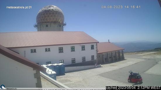 Serra da Estrela webkamera ze včerejška ve 14 hod.