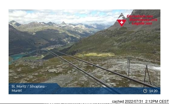 Silvaplana/Engadin webcam at lunchtime today