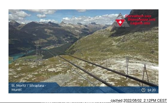 Silvaplana/Engadin webcam at 2pm yesterday
