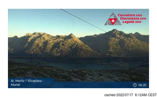 Live Snow webcam for Silvaplana/Engadin