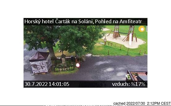Soláň - Vrchol a Sedlo webcam at lunchtime today