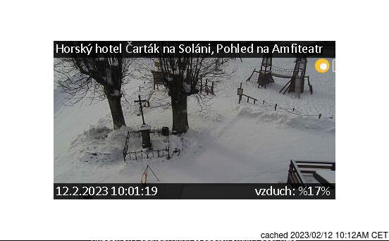 Soláň - Vrchol a Sedlo webbkamera vid lunchtid idag