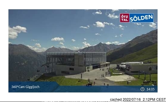 Sölden webcam at lunchtime today