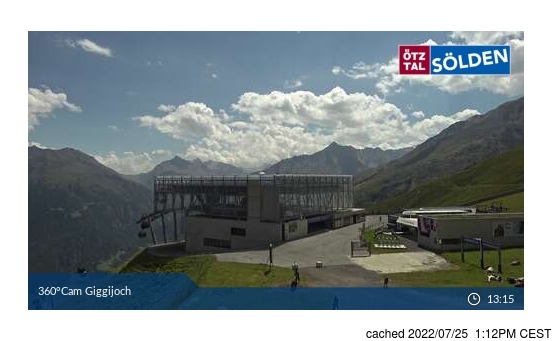 Live Snow webcam for Sölden