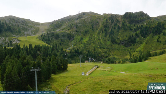 Speikboden webcam at lunchtime today