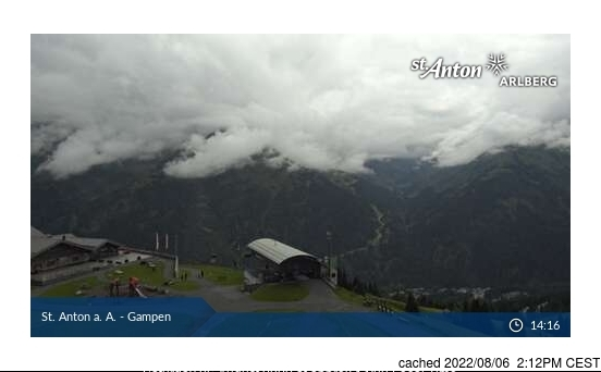 St. Anton webcam at lunchtime today