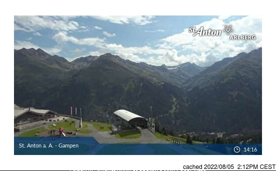 St. Anton webcam at 2pm yesterday