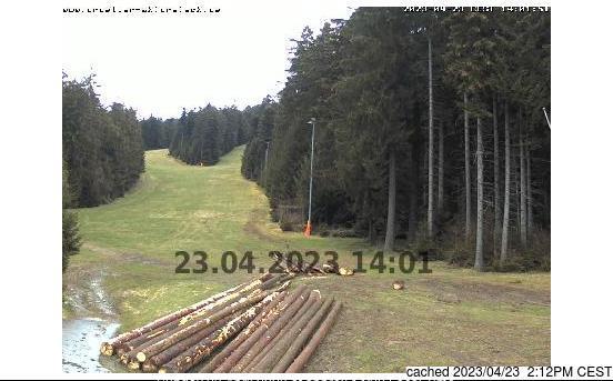 St. Englmar/Pröller webbkamera vid kl 14.00 igår