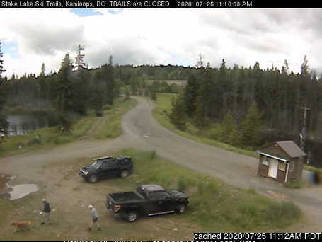 Stake Lake Nordic Centre webcam at lunchtime today