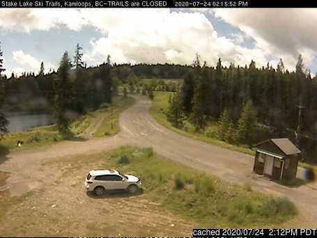 Stake Lake Nordic Centre webkamera ze včerejška ve 14 hod.