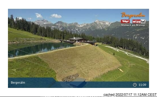Steinach/Silbersattel webcam om 2uur s'middags vandaag