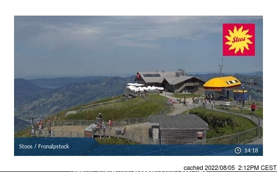 Stoos Webcam Showing Current Snow Conditions
