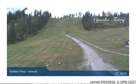 Webcam de Štrbské Pleso à 14h hier