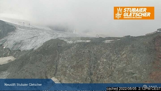 Stubai Glacier webcam at 2pm yesterday
