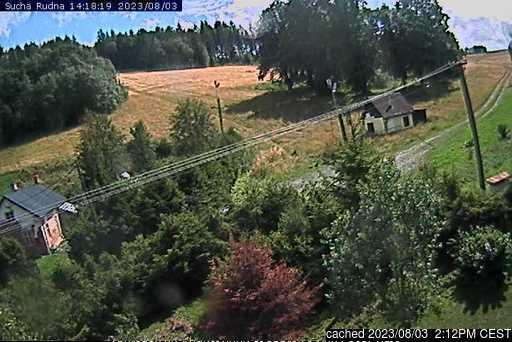 Suchá Rudná - Andělská hora (Annaberg) webkamera v době oběda
