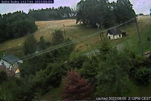 Suchá Rudná - Andělská hora (Annaberg) webkamera ze včerejška ve 14 hod.