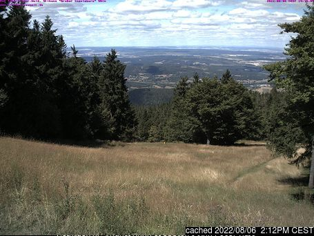 Tabarz/Inselsberg/Datenberg webcam at lunchtime today