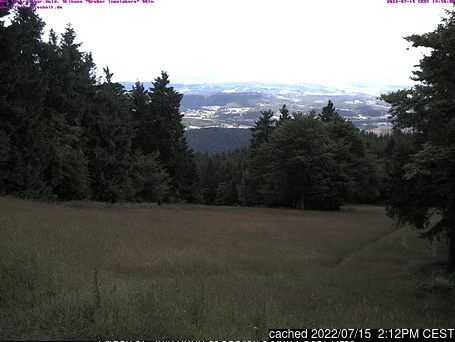 Tabarz/Inselsberg/Datenberg Webcam gestern um 14.00Uhr