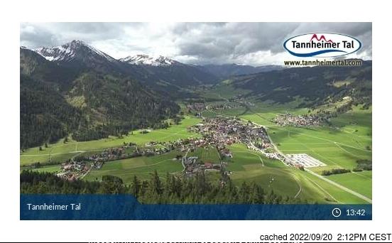 Tannheim/Neunerköpfle webkamera ze včerejška ve 14 hod.