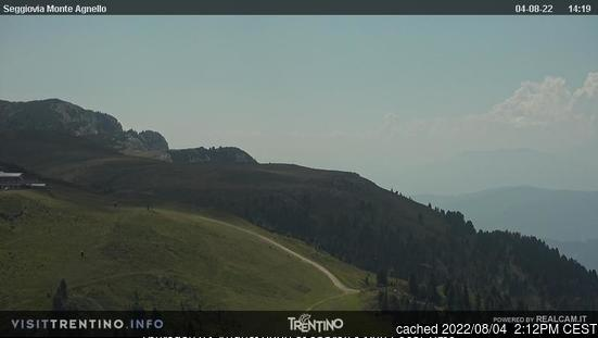 Tesero Pampeago webcam at lunchtime today