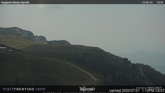 Tesero Pampeago webcam all'ora di pranzo di oggi