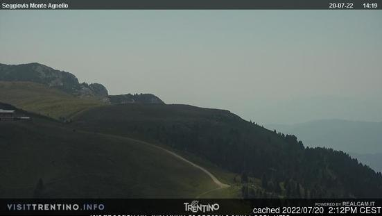 Tesero Pampeago webbkamera vid lunchtid idag