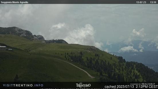 Tesero Pampeago webcam om 2uur s'middags vandaag