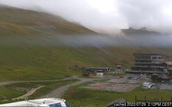Tignes webcam at 2pm yesterday
