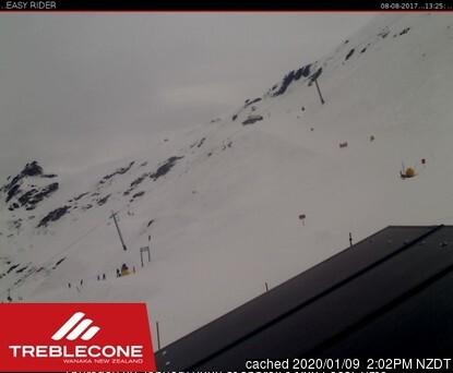 Treble Cone webcam all'ora di pranzo di oggi