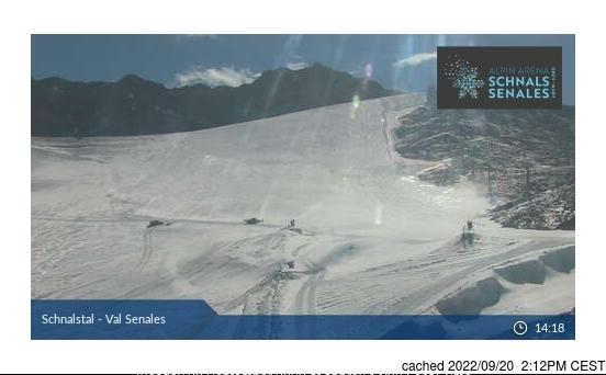 Val Senales (Schnalstal) webcam om 2uur s'middags vandaag