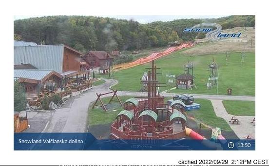 Valčianska dolina webcam op lunchtijd vandaag