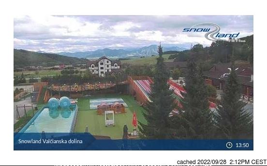 Valčianska dolina webkamera ze včerejška ve 14 hod.