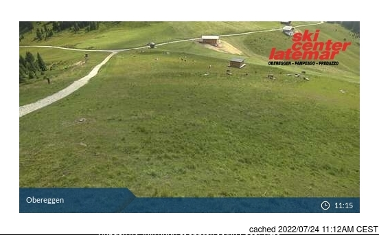 Val di Fiemme-Obereggen webcam at lunchtime today