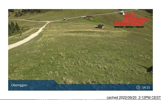 Val di Fiemme-Obereggen webcam at 2pm yesterday