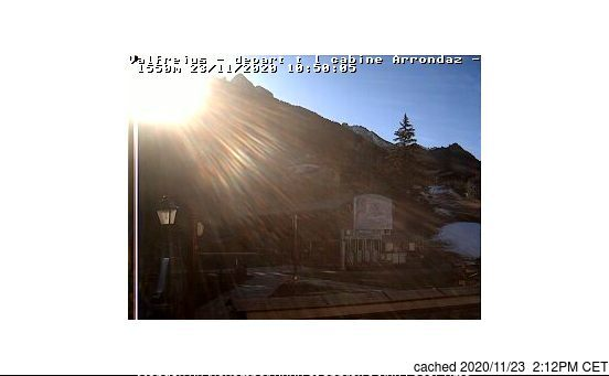 Valfrejus webcam at 2pm yesterday