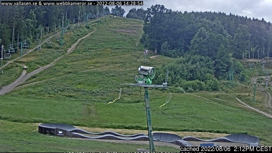 Vallåsen webcam at lunchtime today